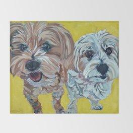Ollie and Bailey Dog Portrait Throw Blanket