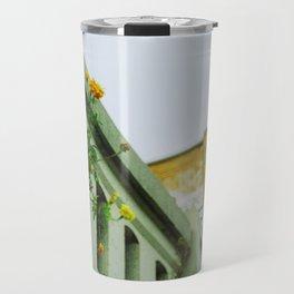 Urban Orange Flower Travel Mug