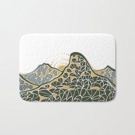 Geometric Mountain Bath Mat