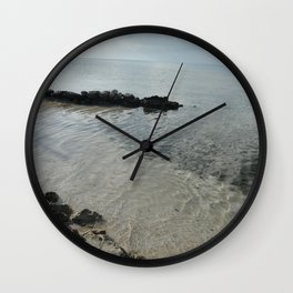 Your own private beach...  Wall Clock