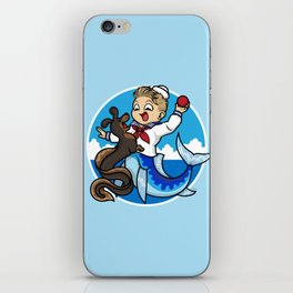 A Merboy and his Sea Dog iPhone Skin