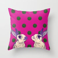 coral Throw Pillows featuring coral by Gray