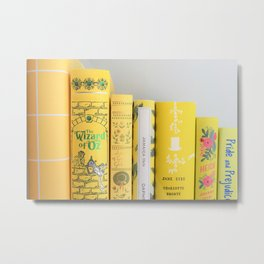 Shelfie in Yellow Metal Print