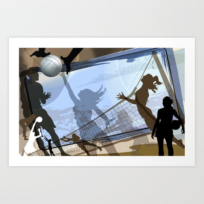 Anyone For Volleyball? Art Print
