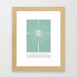 God be… Framed Art Print