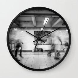 Metro Station Platform Wall Clock