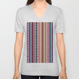 KILIM NO. 2 IN MULTI TRIANGLES Unisex V-Neck