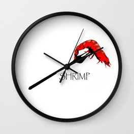 Shrimp! Wall Clock