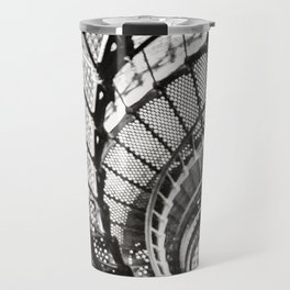 Spiral staircase black and white Travel Mug