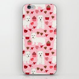 Westie west highland terrier dog breed valentines day cute dog person must have gifts pet portraits iPhone Skin