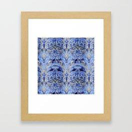 Blue Lights  #society6 #decor #buyart Framed Art Print