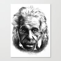 einstein Canvas Prints featuring Einstein by Jaume Tenes