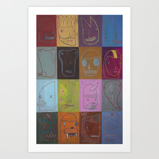 The Simulacrumtastic Parade of Self Divisible by 16 Art Print