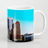 pittsburgh Mugs featuring Pittsburgh Morning by Biff Rendar