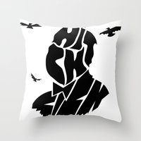 hitchcock Throw Pillows featuring Hitchcock by creativecam