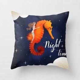 Love Nights 3/3 Throw Pillow