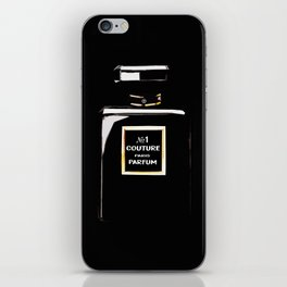 Black Parfum on black iPhone Skin