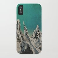 mountains iPhone & iPod Cases featuring Mountains by Amelia Senville