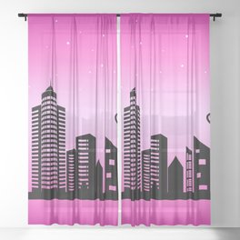 City Stars XIII Sheer Curtain