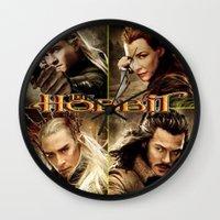 the hobbit Wall Clocks featuring Hobbit by custompro