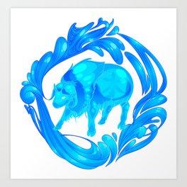 2015 Zodiac-Water Ox Art Print