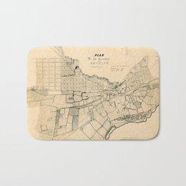 Map Of Los Angeles 1849 Bath Mat