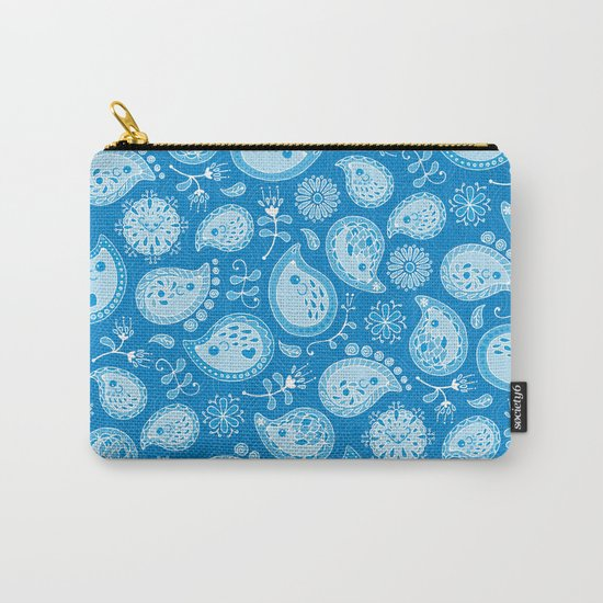 Hedgehog Paisley_Blue Pool Carry-All Pouch