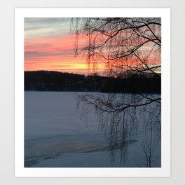 Winter sunset pt 2 Art Print
