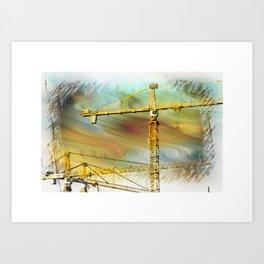 Building crane Art Print