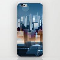 metropolis iPhone & iPod Skins featuring Metropolis by Herb Vaine