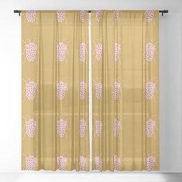 arthropod mustard Sheer Curtain