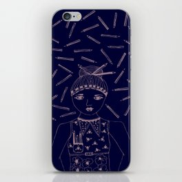 Can I 'PENCIL' you in for a date? iPhone Skin