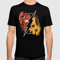 Flashpoint Paradox  LARGE Black Mens Fitted Tee