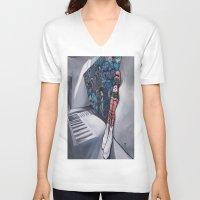 karma V-neck T-shirts featuring Karma by Sandi Sharp