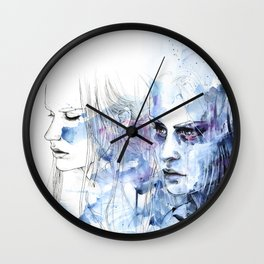 waves - to and fro Wall Clock