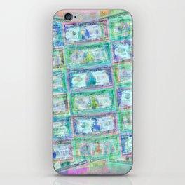 540 Million Dollars Blue Green Pastel Money Bling Cash Dollar Bills Loot Coin iPhone Skin