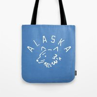 alaska Tote Bags featuring Alaska by Roland Lefox