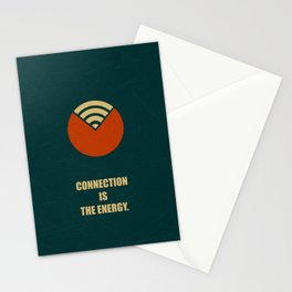 Lab No. 4 - Connection Is The Energy Corporate Start-Up Quotes Poster Stationery Cards