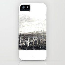 Vienna IV - Karlsplatz Entry of Empress Elisabeth over the Elisabeth Bridge in Vienna in 1854 iPhone Case