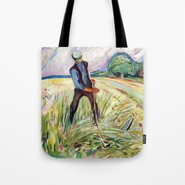 The Haymaker by Edvard Munch Tote Bag