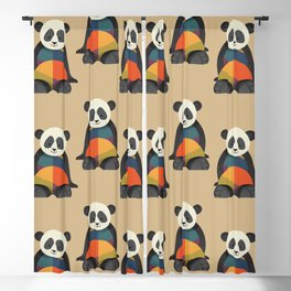Giant Panda Blackout Curtain