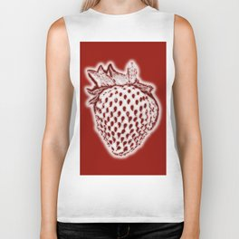 Red Strawberry Biker Tank