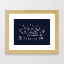 Sleep under the stars Framed Art Print