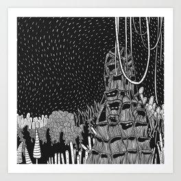 Botanical Doodle 2/3 Art Print