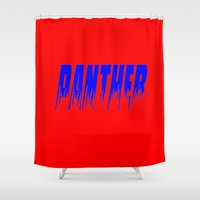 panther Shower Curtains featuring Panther by Brian Raggatt