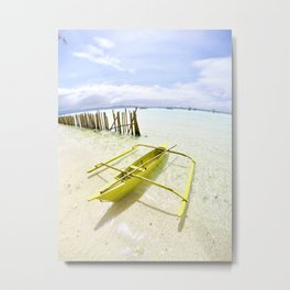 Boracay Sunshine Boat Metal Print