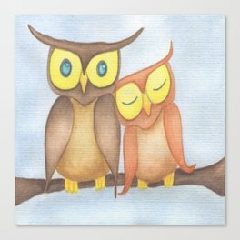 The Owl Lovers Canvas Print