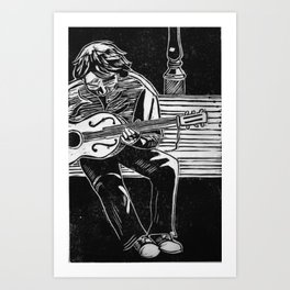 Guitarist Art Print
