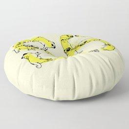 Pugs Prank Floor Pillow