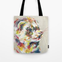 ferret Tote Bags featuring Ferret V by Nuance